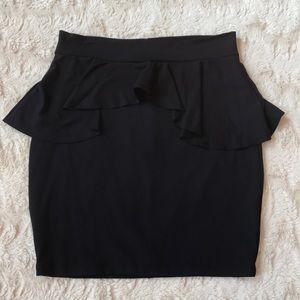 Bebe Black Peplum Skirt